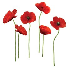 Poppies at Play Peel and Stick Giant Wall Decal