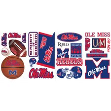 24 Piece Ole Miss Wall Decal