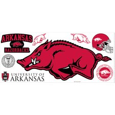 University of Arkansas Peel and Stick Giant Wall Decal wHooks