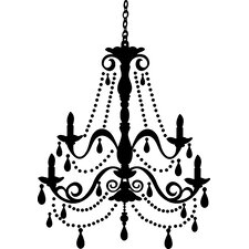 Chandelier with Gems Peel and Stick Giant Wall Decal
