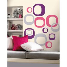 30-Piece Modern Ovals Peel and Stick Wall Decal