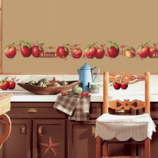 40-Piece Country Apples Peel and Stick Wall Decal