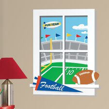 Game Day Football Peel and Stick Window Wall Decals