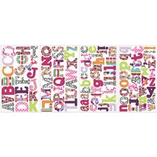 Boho Letters Peel and Stick Wall Decals