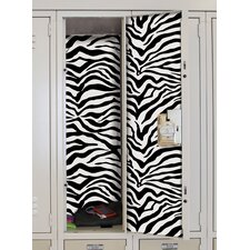 <strong>Room Mates</strong> Zebra Locker Skins Wall Decal
