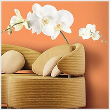 Room Mates Deco White Orchid Wall Decal