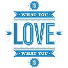 8 Piece Peel & Stick Giant Wall Decals/Wall Stickers 55 Hi's Do What You Love Wall Decal Set