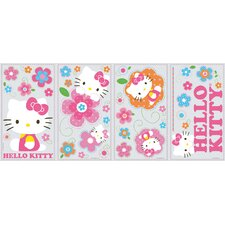 39 Piece Peel & Stick Giant Wall Decals/Wall Stickers Hello Kitty Floral Boutique Wall Decal Set