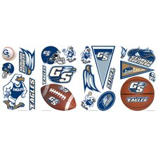 21 Piece Peel & Stick Giant Wall Decals/Wall Stickers 21 Piece Georgia Southern University Wall Decal Set