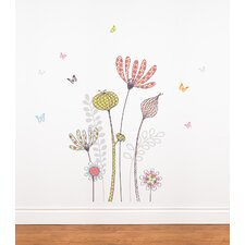 Mia & Co Flowers and Butterflies Wall Decal