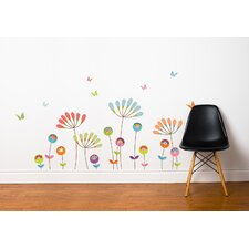 Mia & Co Chrysanthemums Pompom Wall Decal