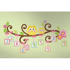 Peel & Stick Giant Happi Scroll Tree Letter Branch Wall Decal