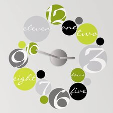 Peel & Stick Circle Clock Mechanism with Wall Decal