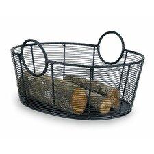 Harvest Wrought Iron Log Basket