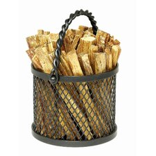 <strong>Minuteman International</strong> Wrought Iron Twisted Rope Fatwood Caddy
