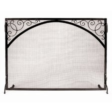 <strong>Minuteman International</strong> Scroll and Arch Sterling Wrought Iron Fireplace Screen