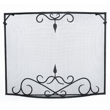 Bostonian Curved Wrought Iron Fireplace Screen