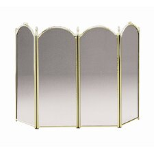 <strong>Minuteman International</strong> 4 Panel Steel Fireplace Screen