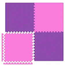 Economy SoftFloors Set in Pink / Purple