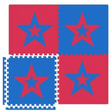 Economy SoftFloors Star Set in Red / Royal Blue