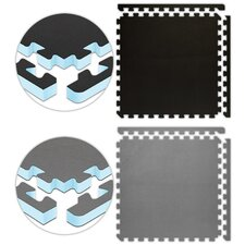 "Jumbo Reversible SoftFloors 2' x 2' x 1"" Set in Black / Grey"