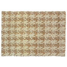 <strong>Classic Home</strong> Dogtooth Handspun Jute Bleach/Natural Rug