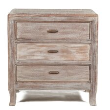 Amelie 3 Drawer Nightstand