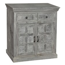 Corbin 2 Drawer / 2 Door Print Block Cabinet