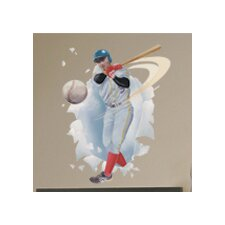 <strong>Blue Mountain Wallcoverings</strong> Baseball Player Breakout Wall Decal