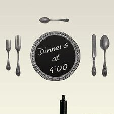 Chalkboard Cutlery Wall Decal