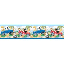 Snap Kids Jeep Safari Self Stick Wall Border