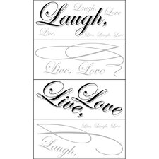 <strong>Blue Mountain Wallcoverings</strong> Live, Love, Laugh Wall Decal