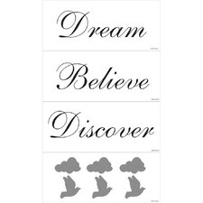 <strong>Blue Mountain Wallcoverings</strong> Dream, Believe, Discover Wall Decal