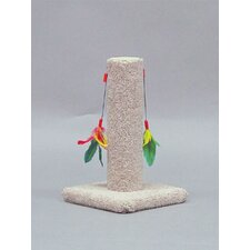 Carpet Scratching Post with Feather Toy