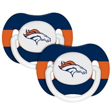 NFL 2 Pack Baby Pacifiers