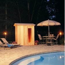 4' x 6' x 7' Outdoor Prebuilt Sauna with Shake Roof