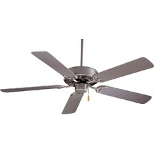 "42"" Contractor Ceiling Fan in Brushed Steel"