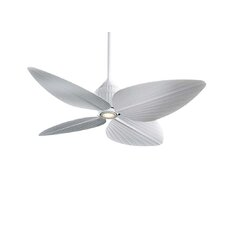 "52"" Gauguin Tropical 4 Blade Indoor / Outdoor Ceiling Fan"