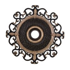 "Napoli 38"" Ceiling Medallion in Sterling Walnut"