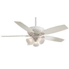 "54"" Classica 5 Blade Gallery Edition Provencal Blanc Ceiling Fan with Handheld Remote"
