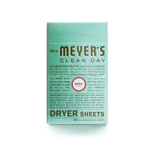 <strong>Mrs. Meyers</strong> Basil Dryer Sheet (80 Pack)