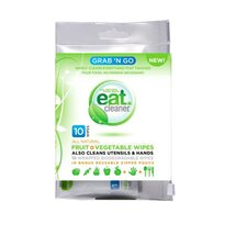 Grab N Go Fruit and Vegetable Wipes (10 Pack)