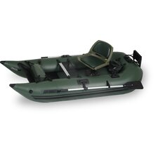Frameless Pontoon Deluxe Boat in Green