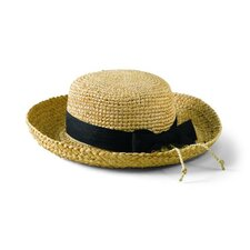 Kids' Raffia Hat with Ribbon