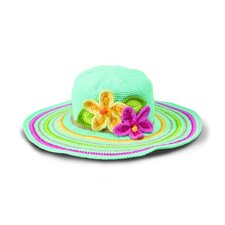 Kids' Tropical Flower Crochet Floppy Hat