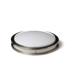 1 Light Round Flush Mount