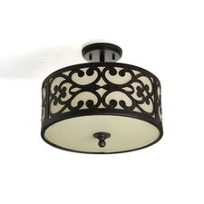 Spazio 3 Light Semi Flush Mount