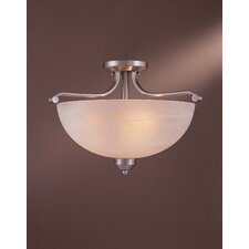 3 Light Paradox Semi Flush Mount
