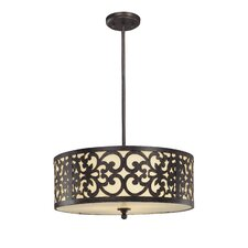 Spazio 3 Light Drum Pendant