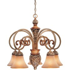 Salon Grand  Chandelier with Optional Ceiling Medallion
